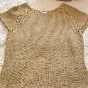 Talbots 100% mercerized cotton top golden small